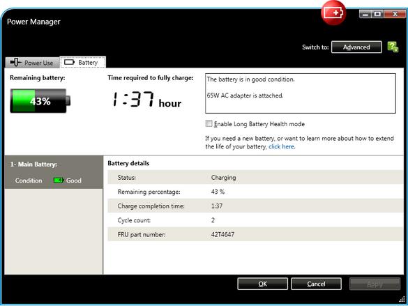 Programvare Thinkpad Power Management Driver x61 Lenovo